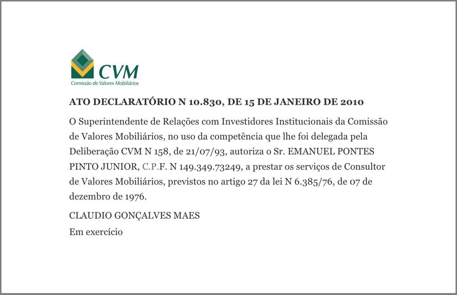 Consultoria de Investimentos Leblon CVM
