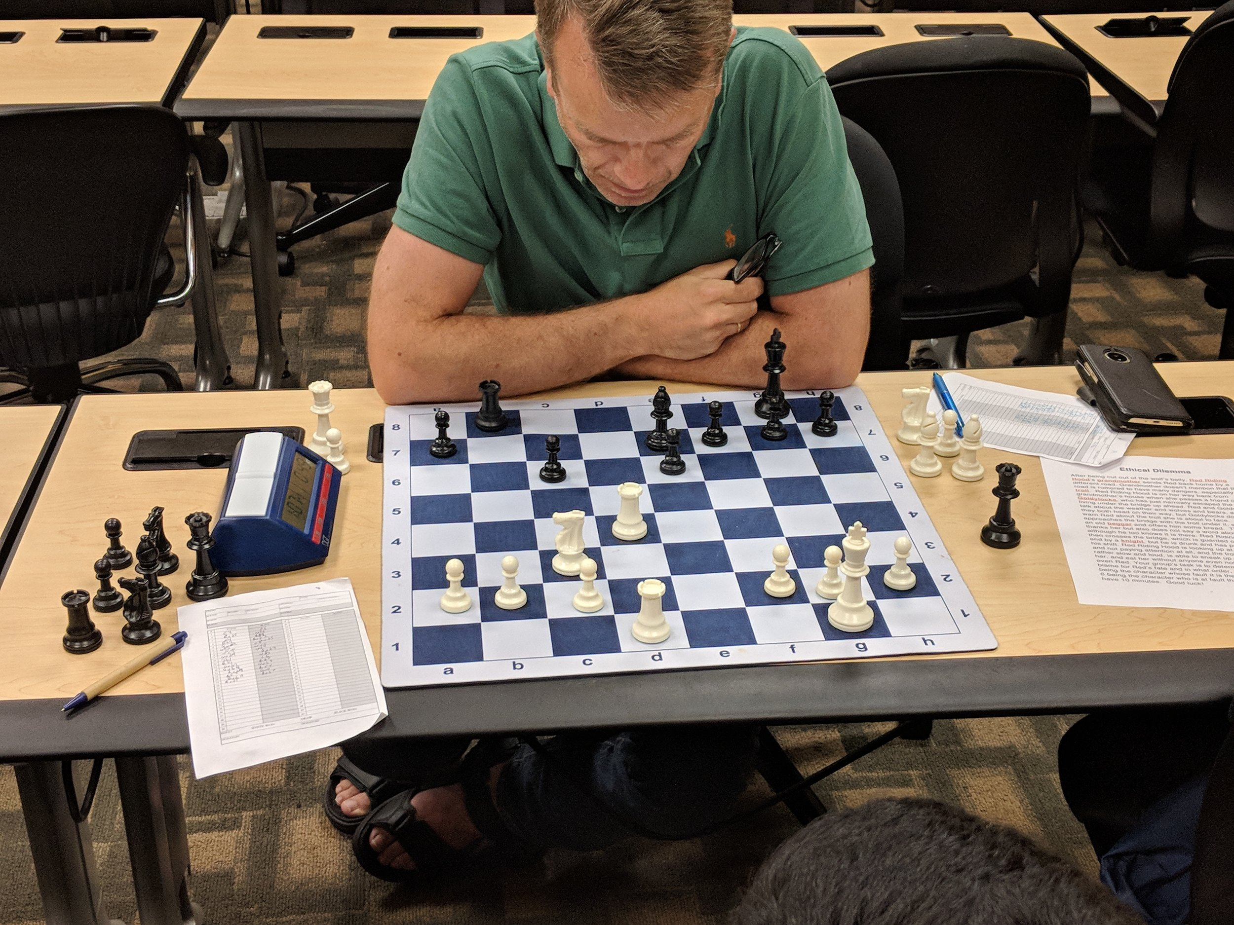 Freddy Hestholm (1200, FIDE). Visiting Orlando from Norway!
