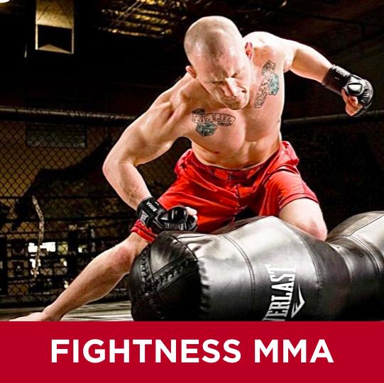 Fightness MMA (Mixed Martial Arts) är en blandning av boxning, kickboxning och brottning där du involverar hela kroppen. Vi använder MMA dockor och tränar slag, sparkar, kast samt brottningstekniker. Fightness MMA är en HIIT klass (High-intensity interval training). DU TRÄNAR PÅ EN EGEN SÄCK.