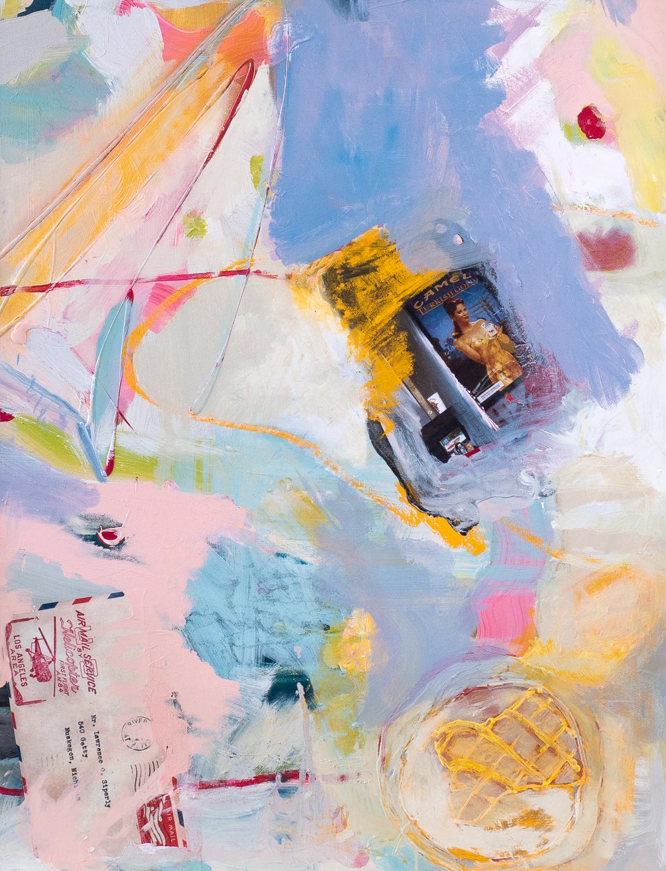Mr Siperly   Mixed media on canvas (Framed)  80cm x 60cm