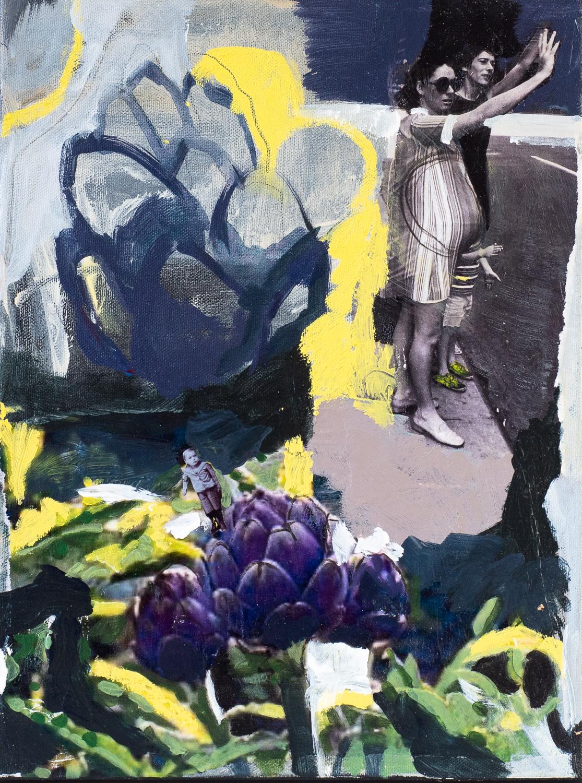 Spring   Mixed media on canvas (Framed)   40cm x 30cm    SOLD