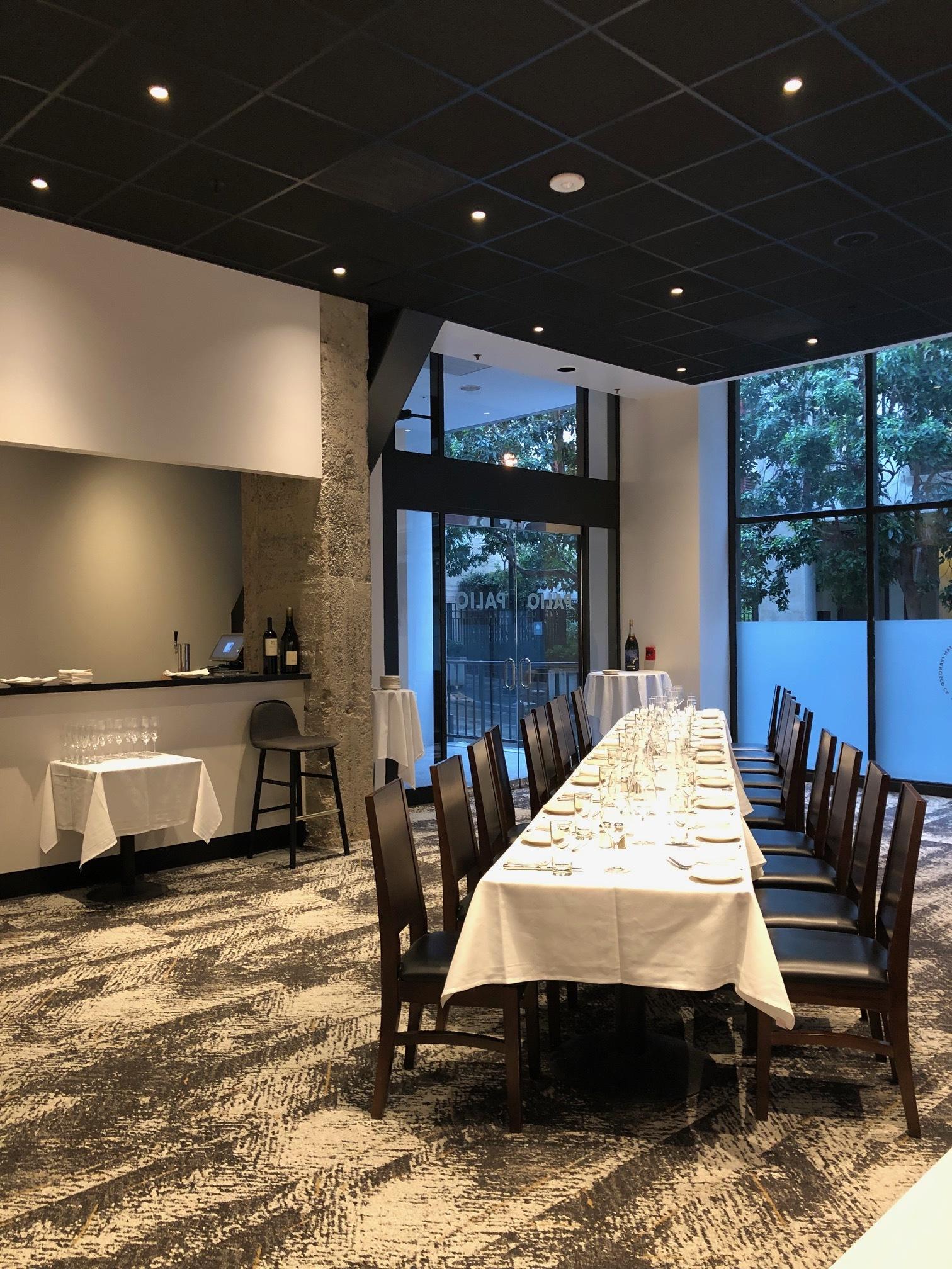 Private Dining Paliosf Modern Italian Trattoria In San Francisco