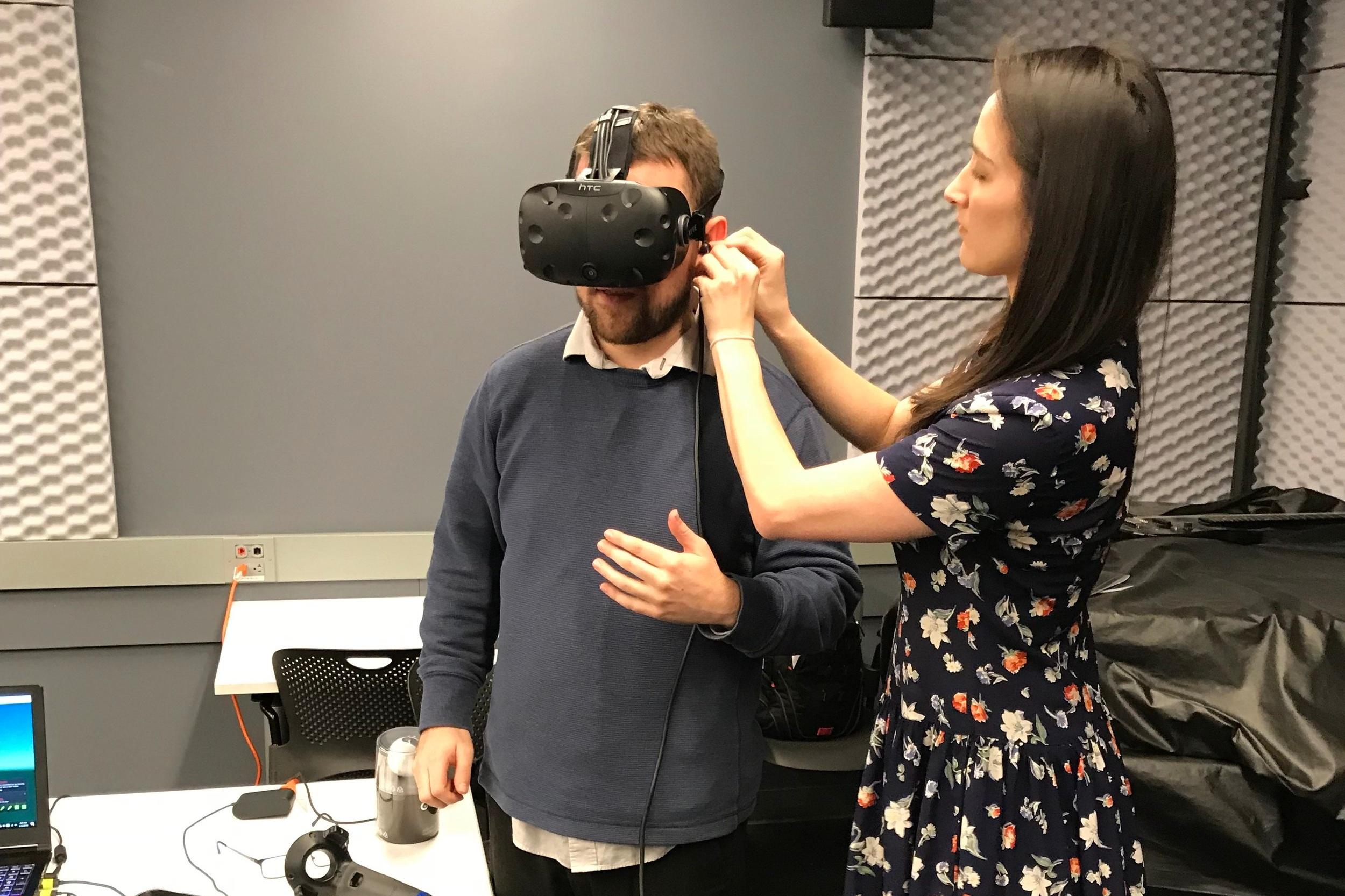 Alice Fromwalt demoing Street Smarts VR's platform