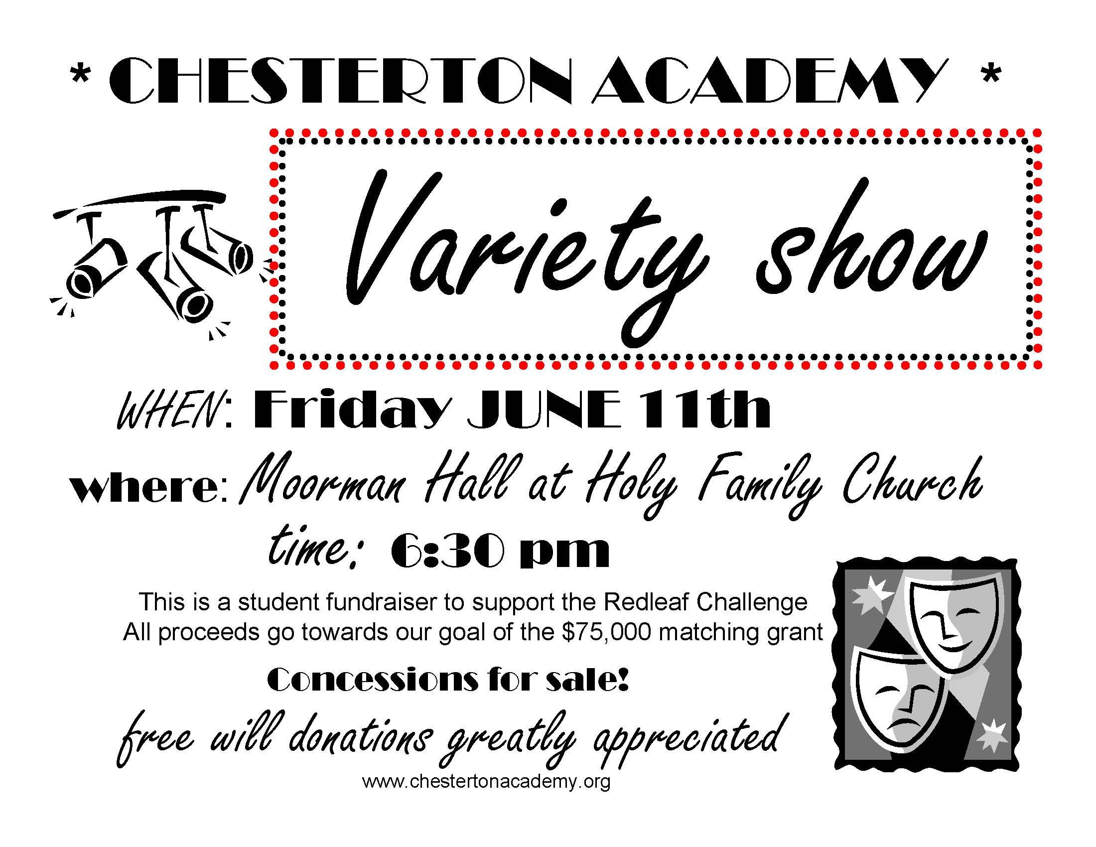 Chesterton Academy Variety Show