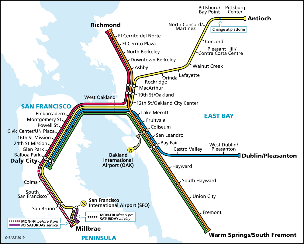San Francisco Bart Untilled Sound The bay area rapid transit system (aka bart) works differently from transit systems in other major metropolitan areas in the united states. san francisco bart untilled sound
