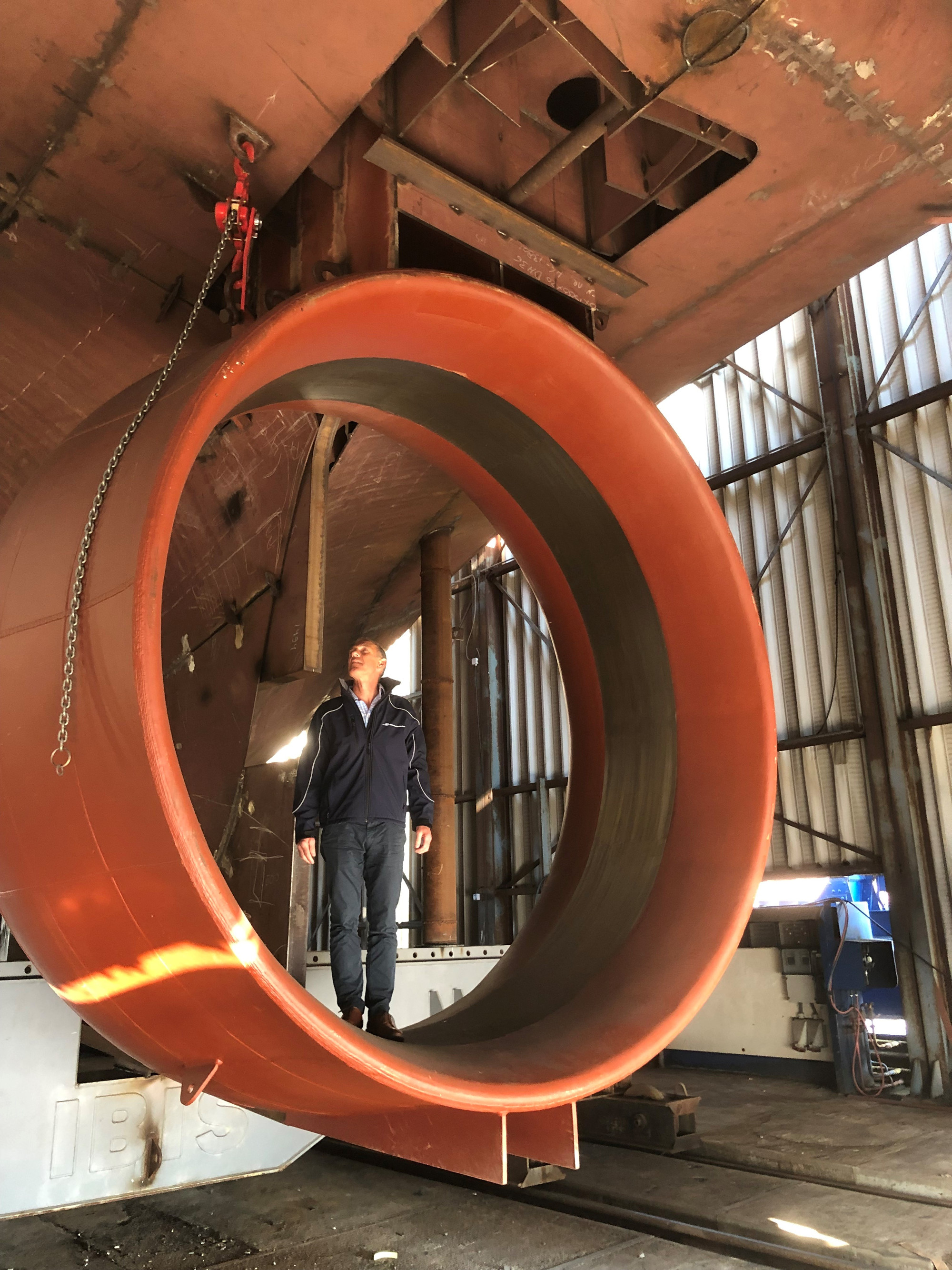 Managing Director of Waterdance in the Georgina of Ladram (BM100) Propellor Nozzle.
