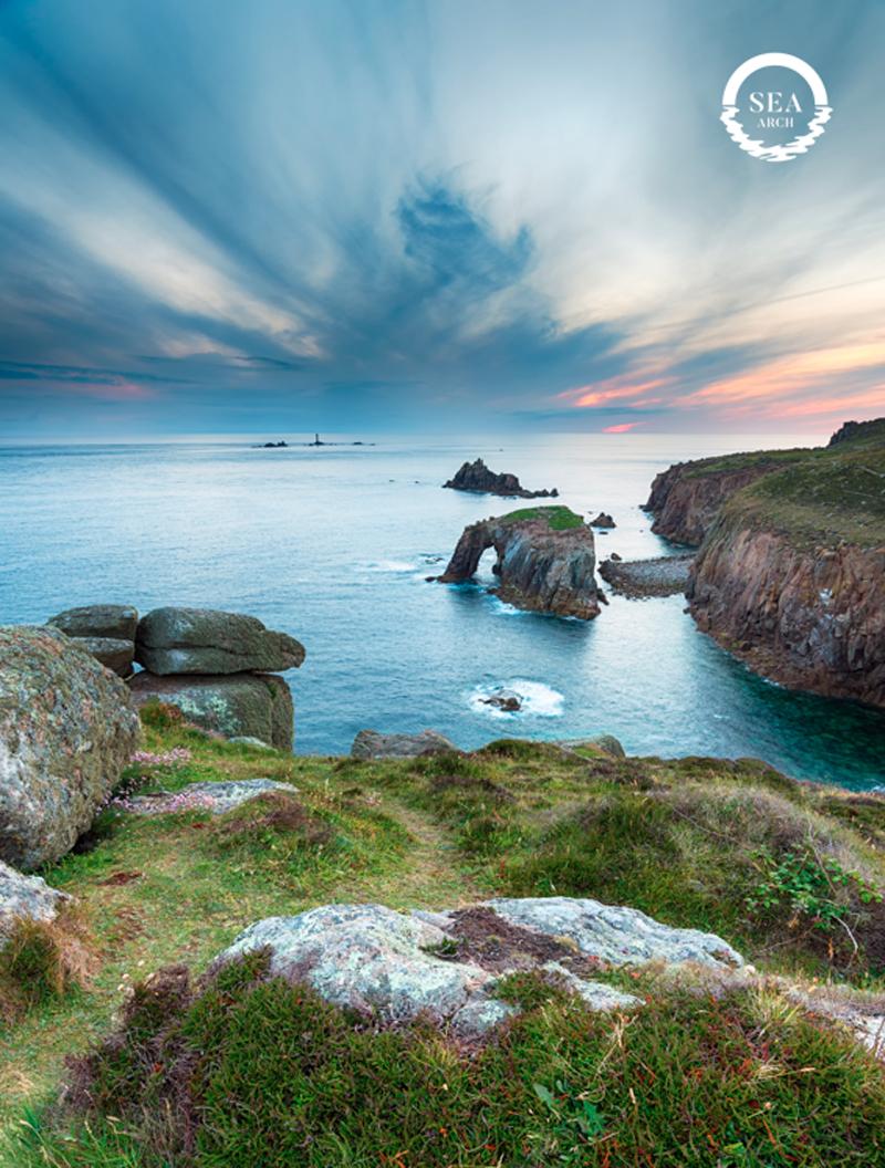 Cornish coast sea arch #morebeautifulwithout