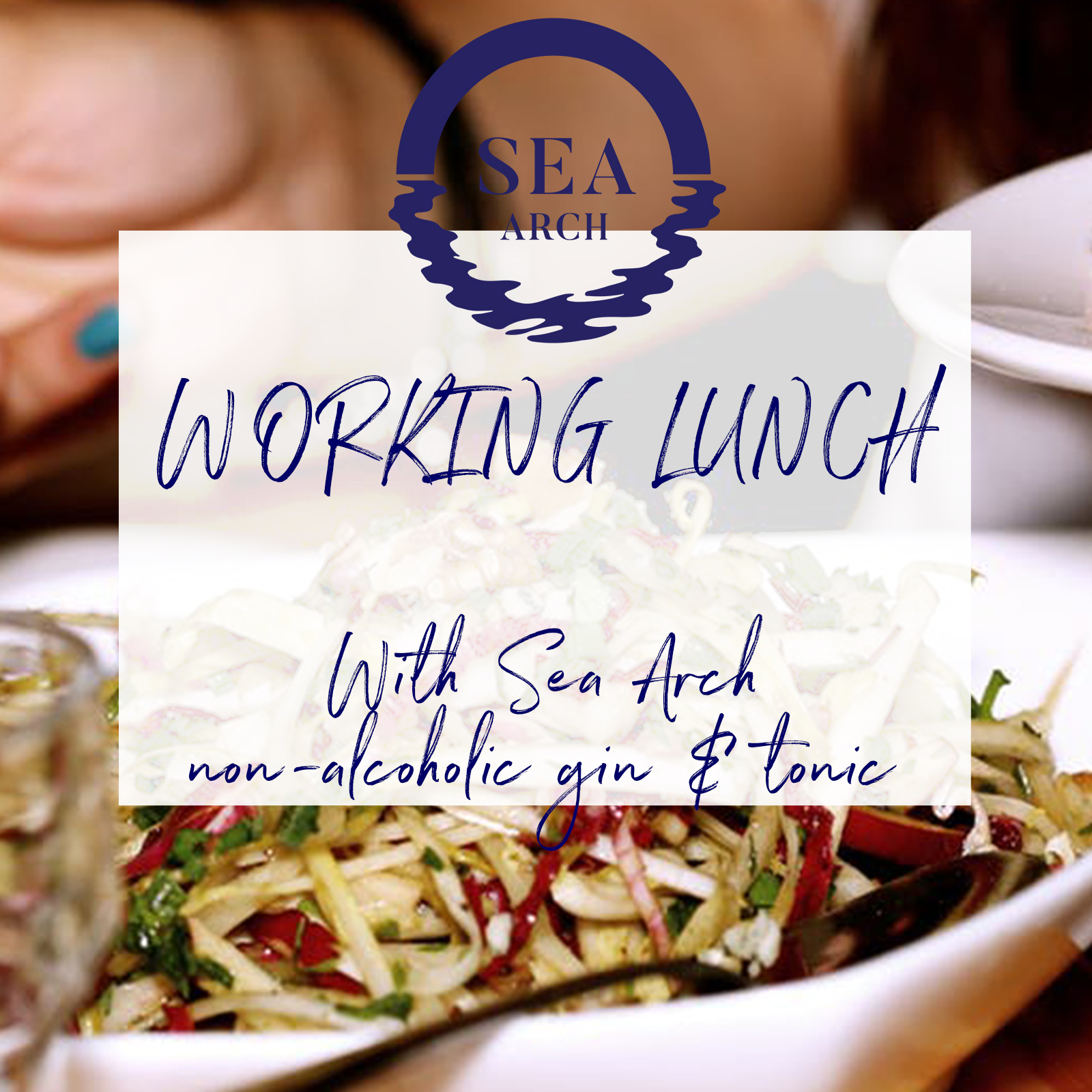Working lunch with non-alcoholic drinks