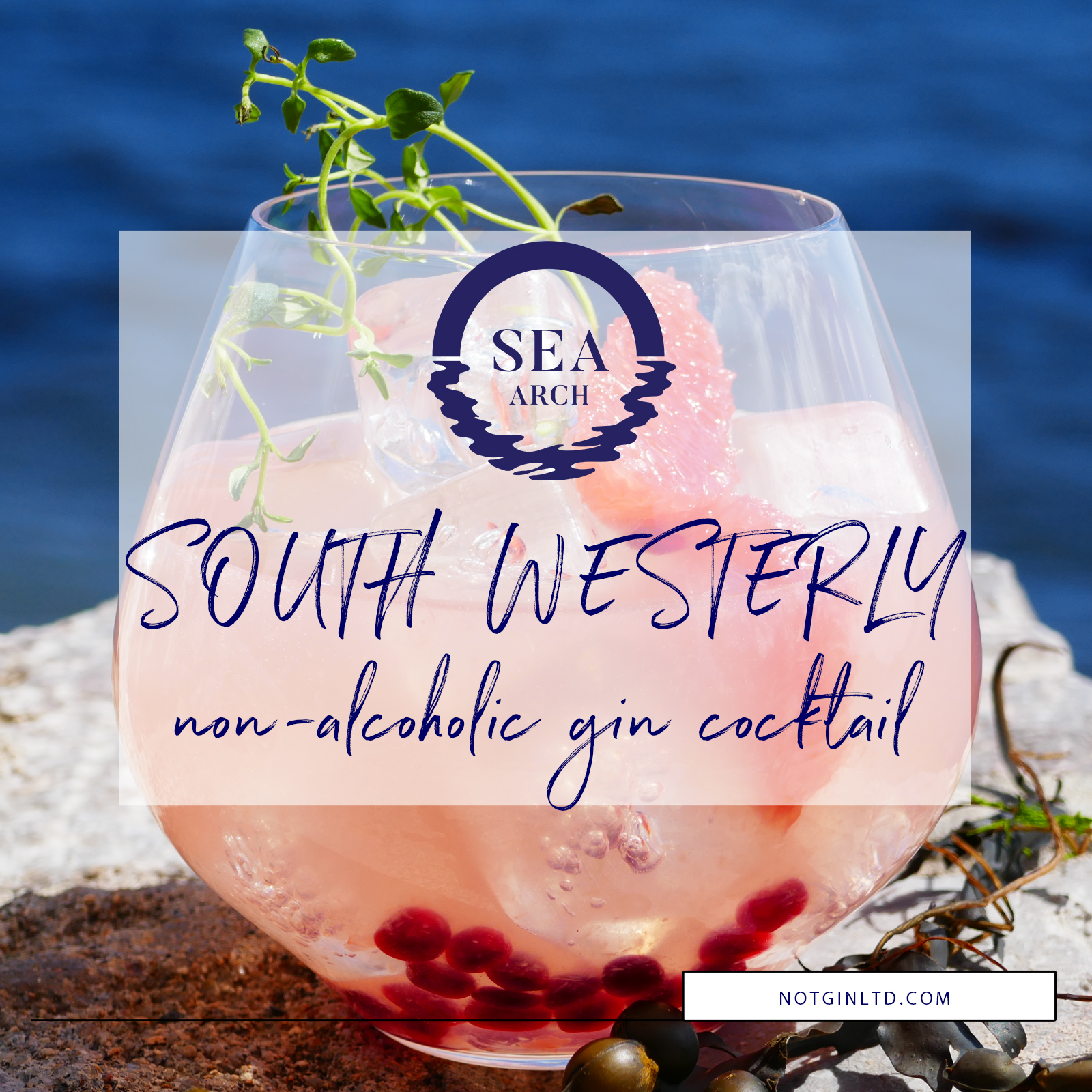 Sea Arch South Westerly non-alcoholic gin cocktail