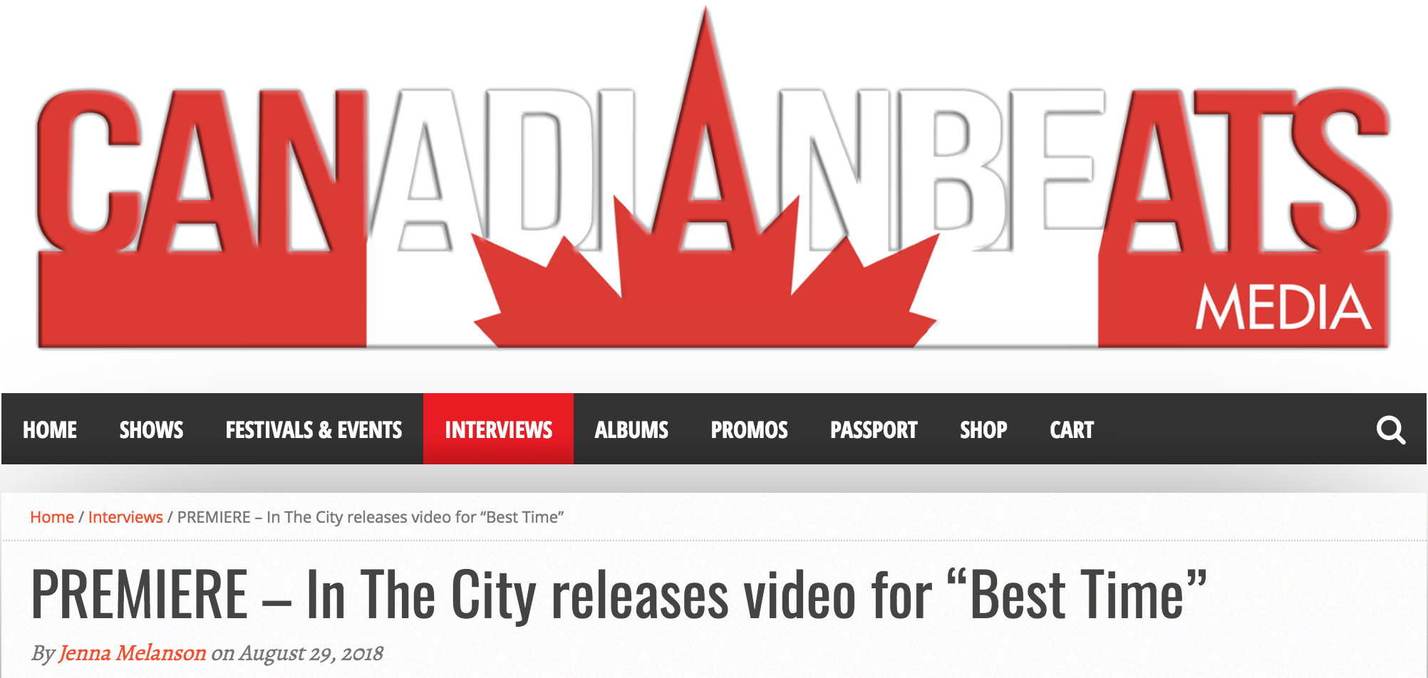In the City on Canadian Beats