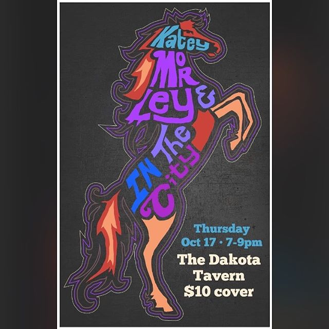 Excited to be playing the @thedakotatavern on October 17th with @kateymorley ! It's an early one so we'll get you to bed at a decent hour 😋 More info in bio!