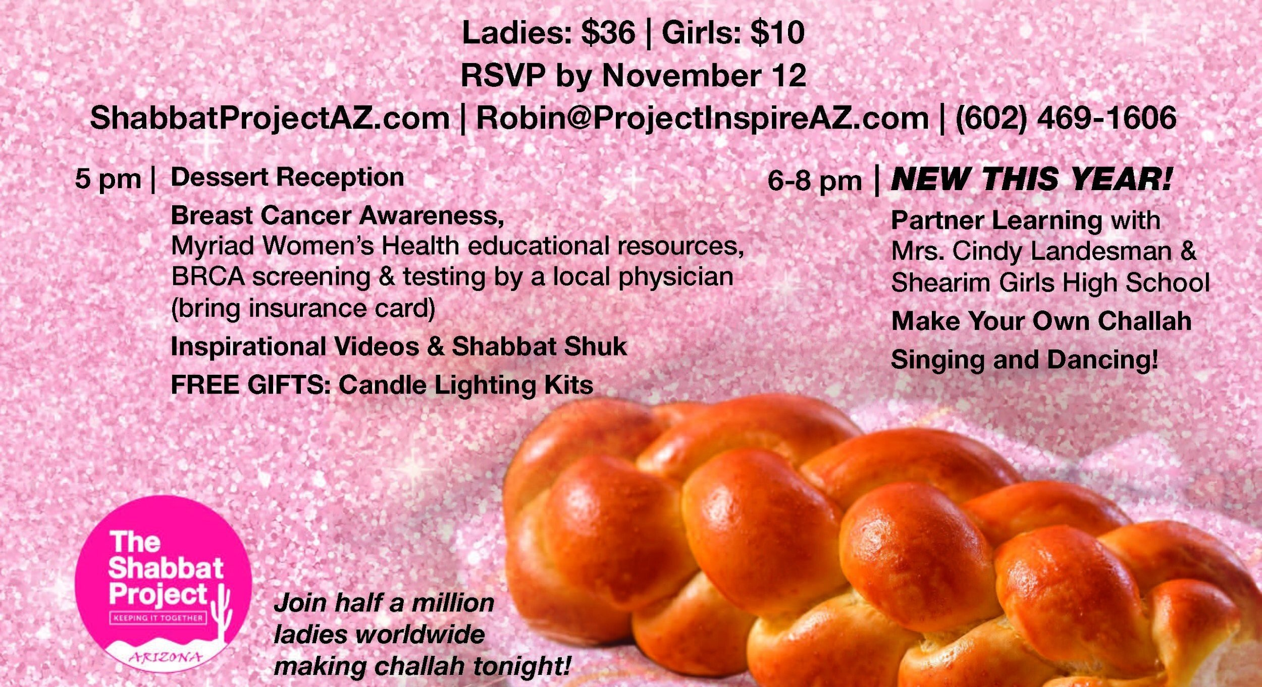 The Great Big Pink Challah Bake @ Ina Levine Jewish Community Campus
