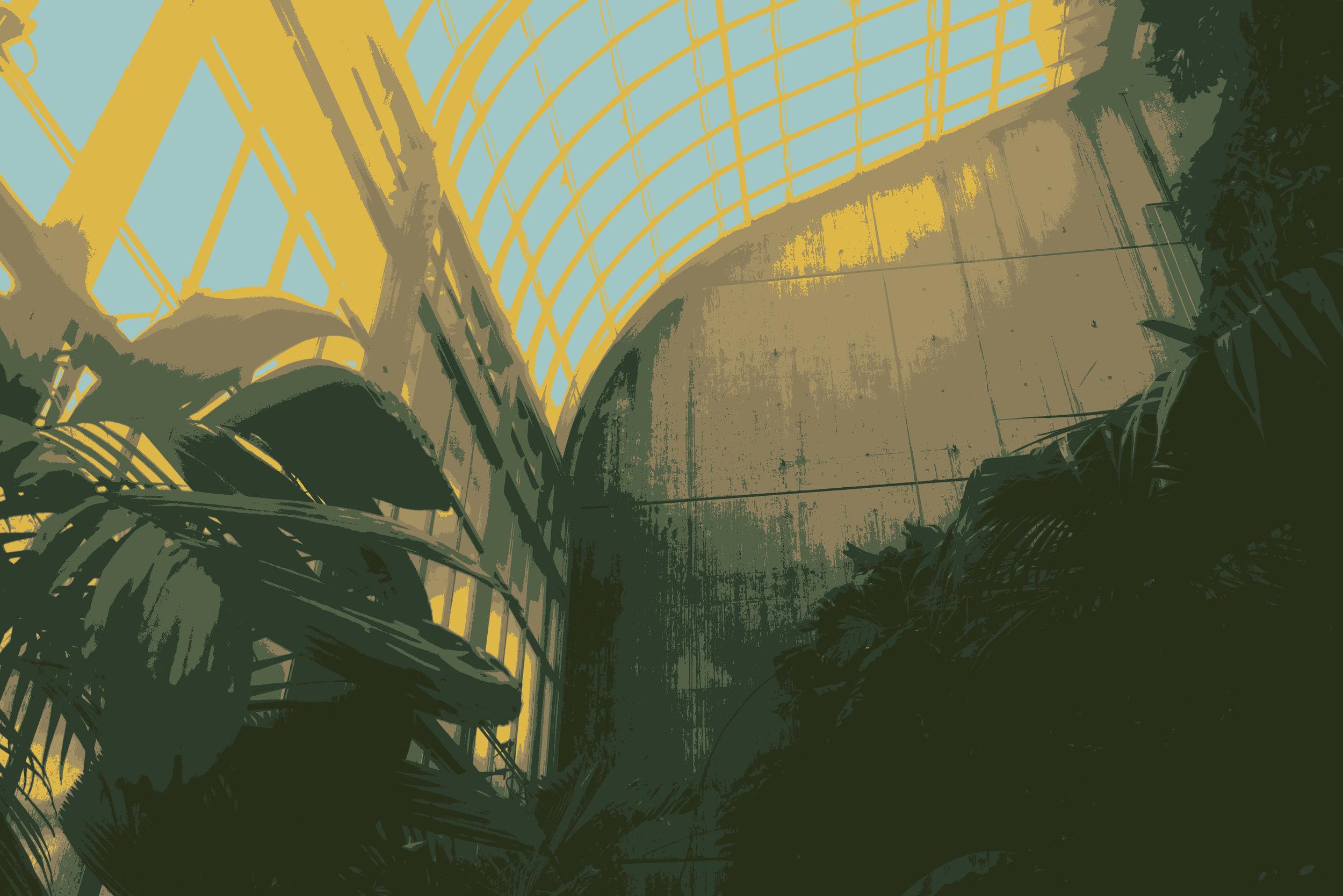Tropics  40x58cm  1/10  Screenprint