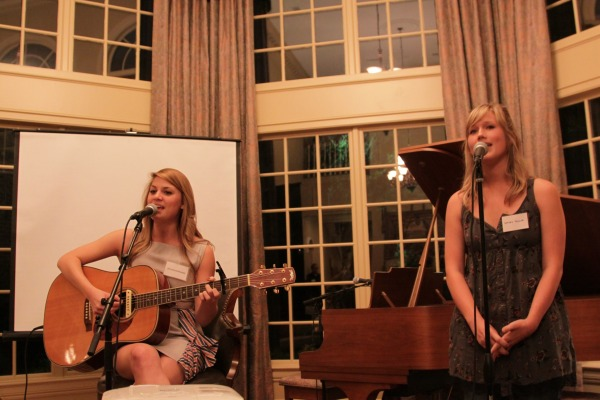 "Native Dallasites: Jillian Edwards and Kelsey Walker performing at ""Stories and Songs."""