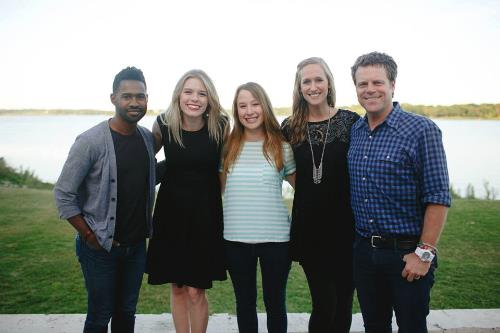 Art House staff with the musicians that played for the party: Kirk Thurmond, Kelsey Lewis, and Cary Pierce