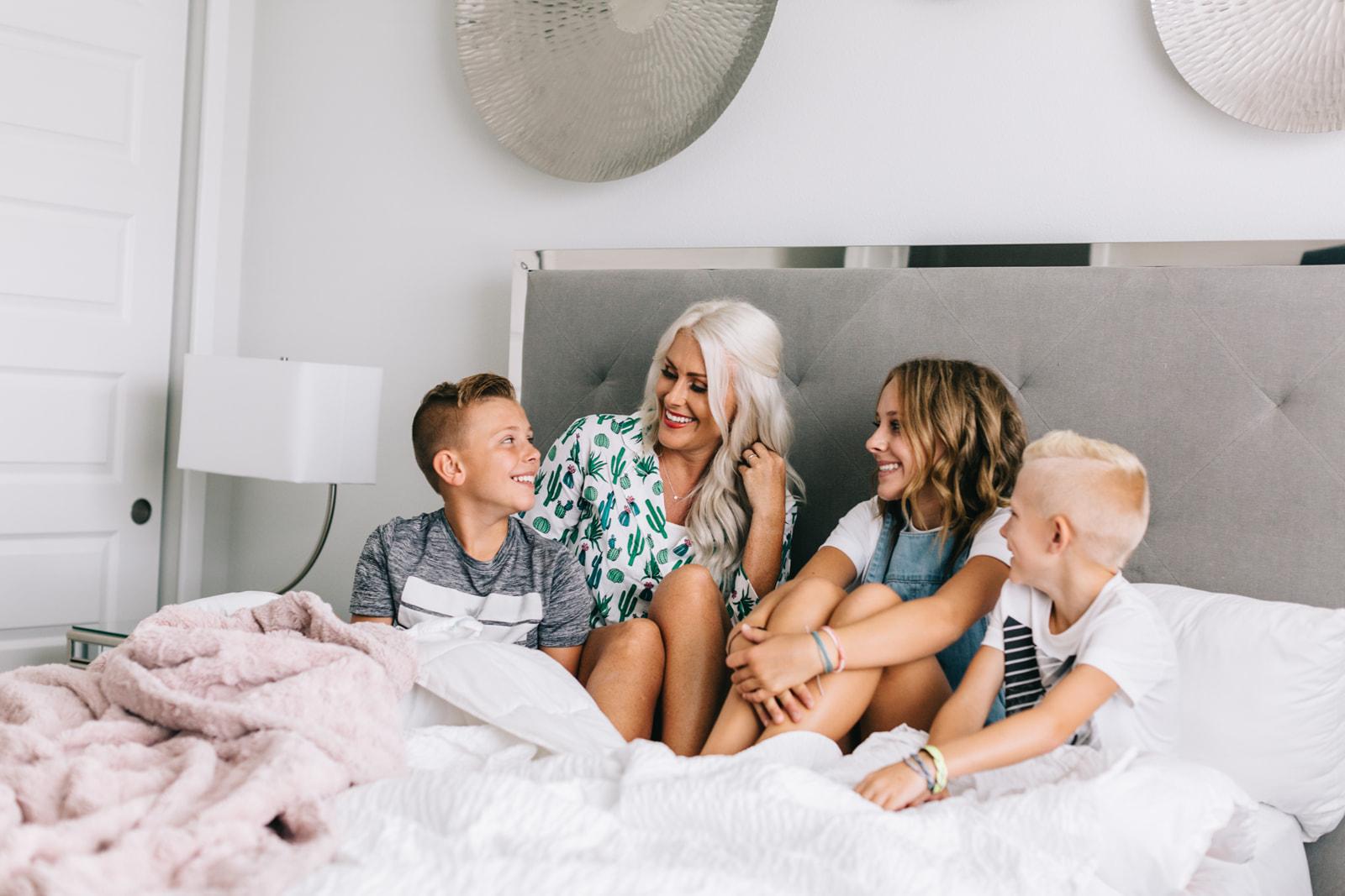 Encore resort family in house