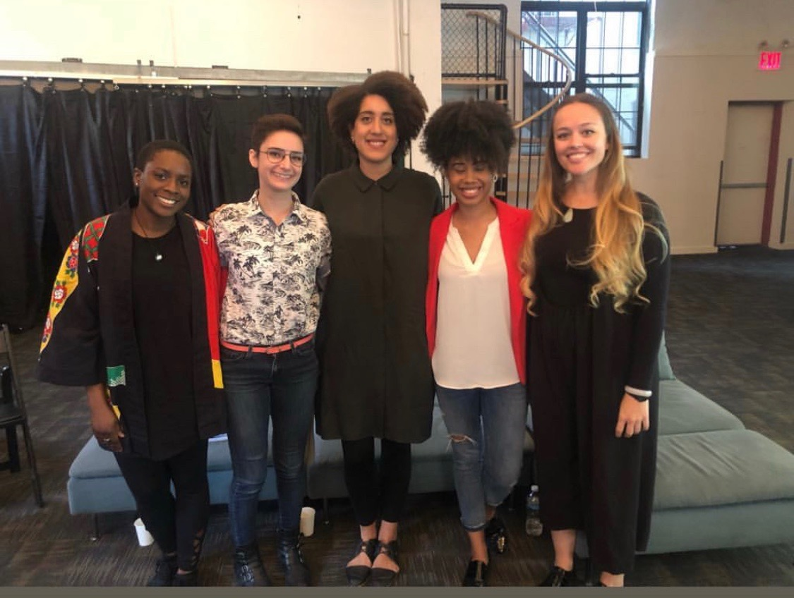 Our panelists and moderator from left to right: Seyi Adeyinka, Tt King, Marissa Moore, Kenya Crawford, and Tara Tonini.