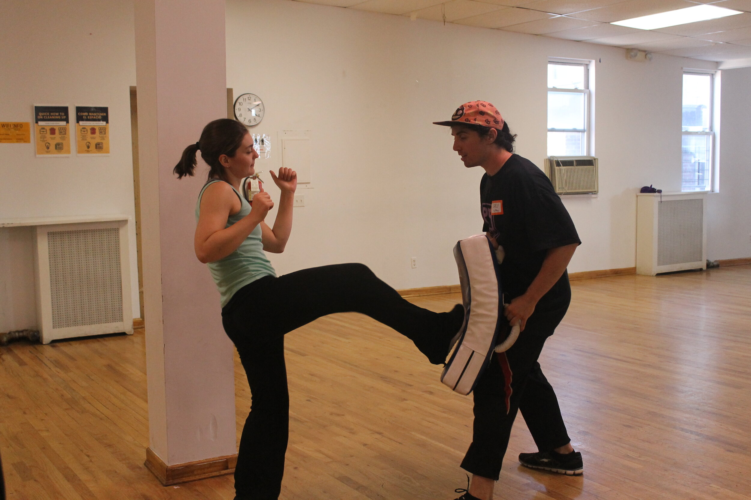 Image from Body Politic event,    FIGHT BACK! SELF-DEFENSE AND PHYSICAL EMPOWERMENT IN THE AGE OF TRUMP    April '18. Photo courtesy of Lily Stevenson