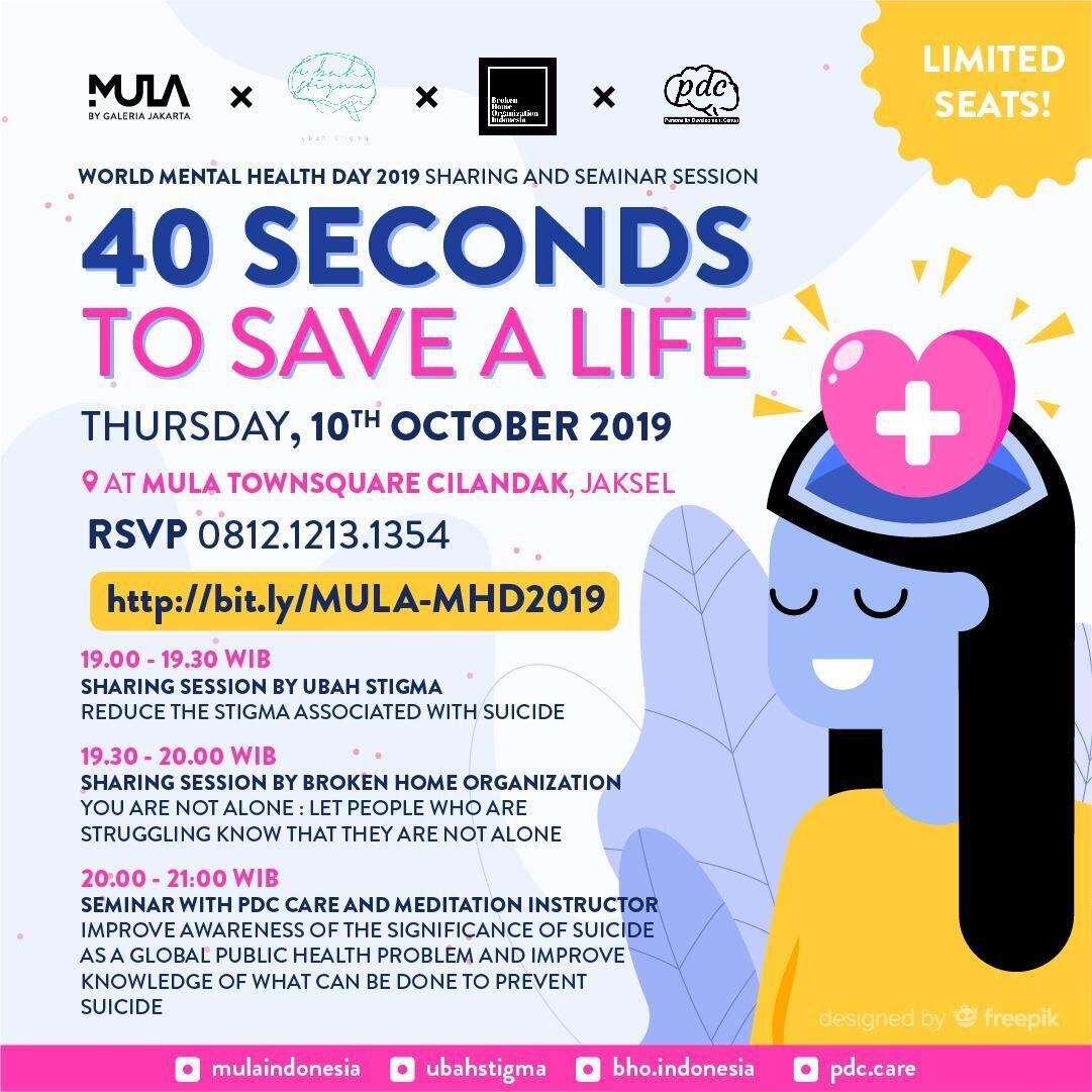 World Mental Health Day 40 Seconds To Save A Life Ubah Stigma