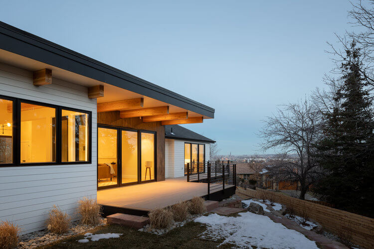 Exterior shot of Boulder architecture project