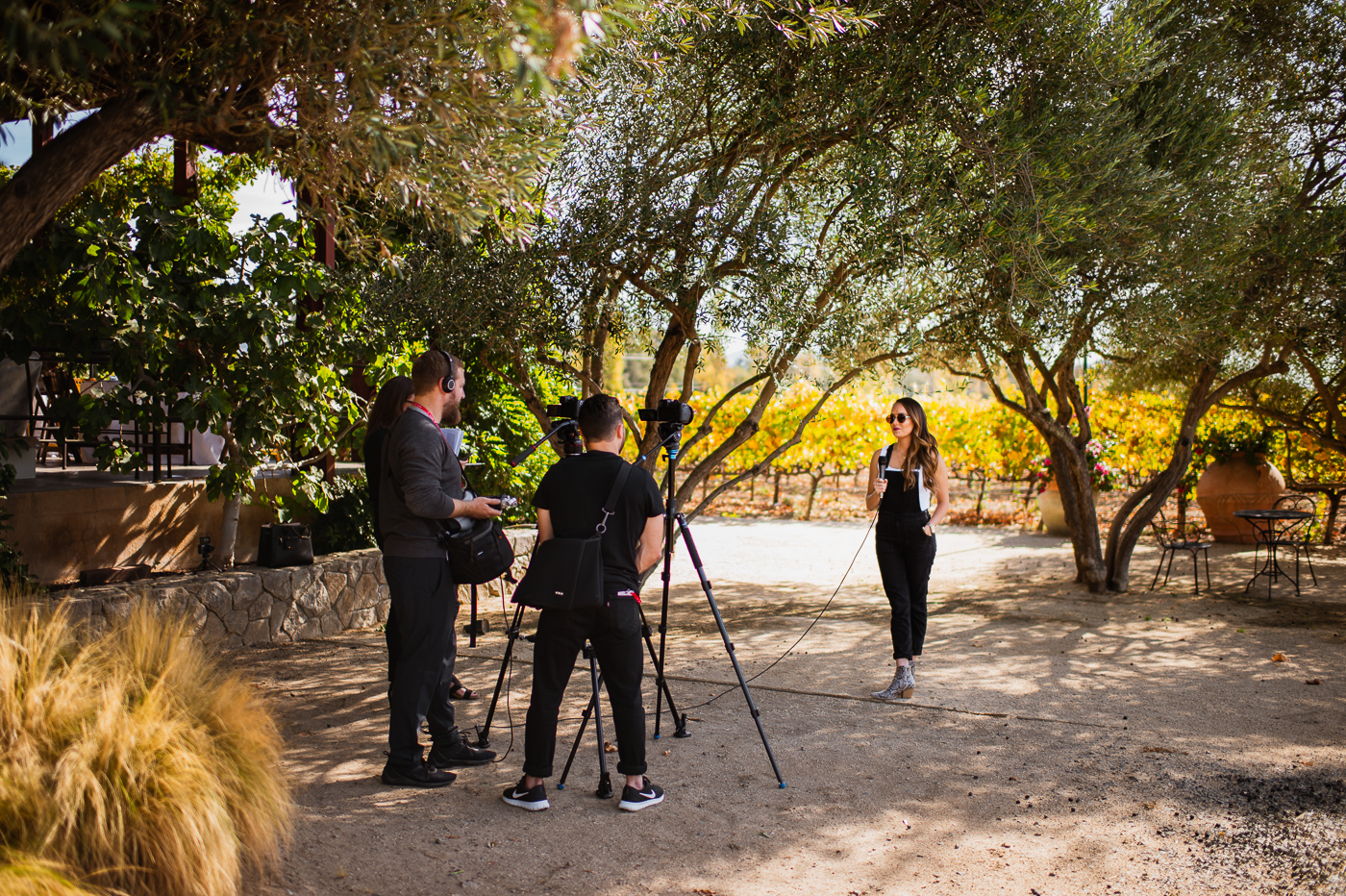 Team PHOCO creating video content with LITV correspondent Alex McCormick