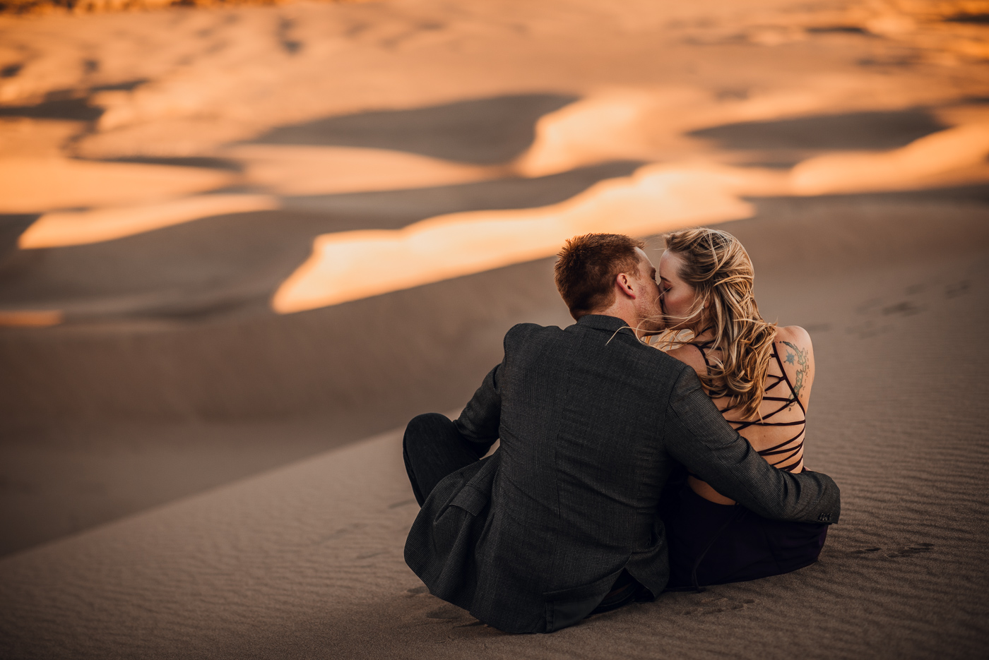 Great Sand Dunes Engagement Session PHOCO Photographer Colorado Flowy Dress Dark Moody-2.jpg