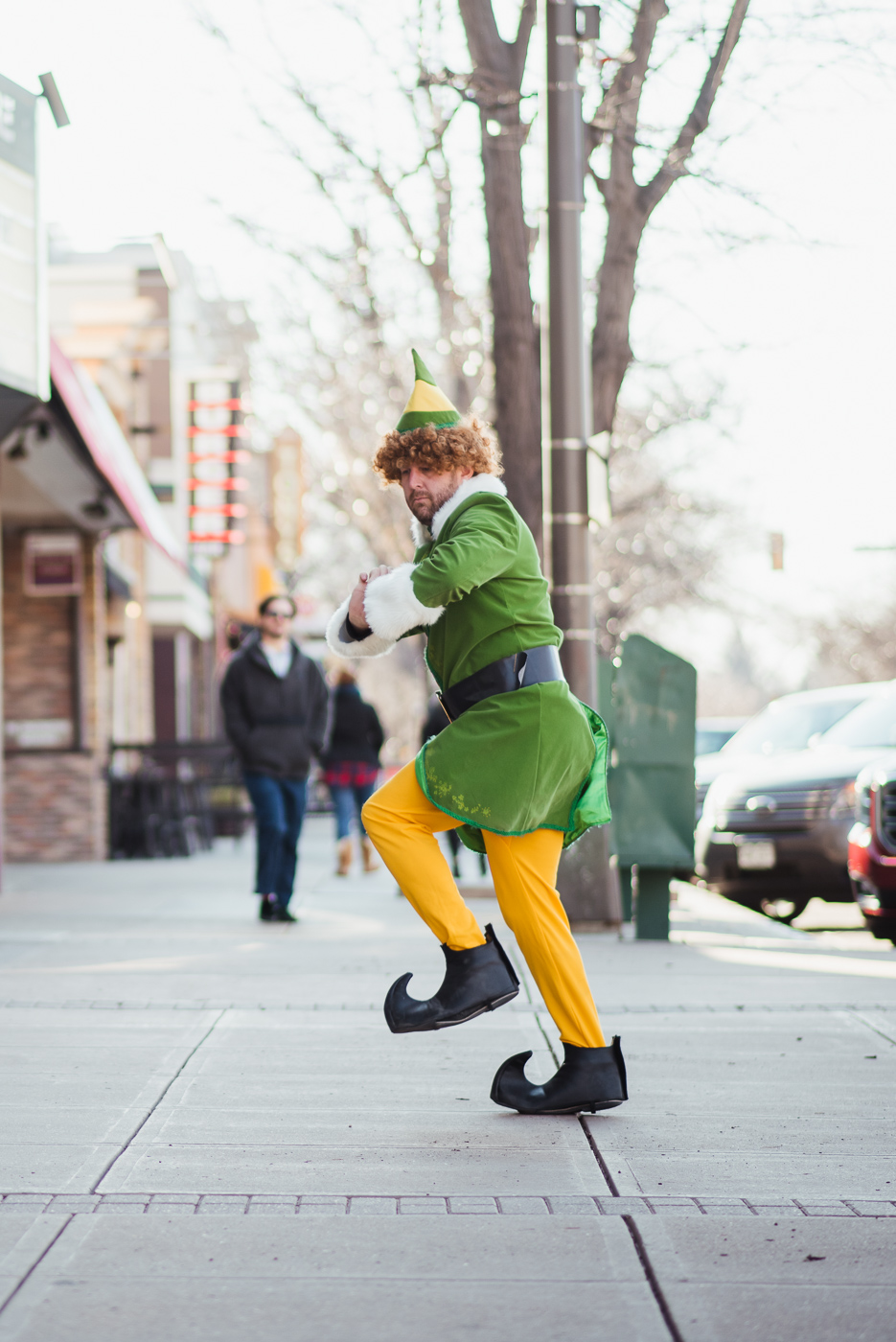 PHOCO Christmas Card Colorado Old Town Fort Collins Photographer Buddy the Elf BTS-7.jpg