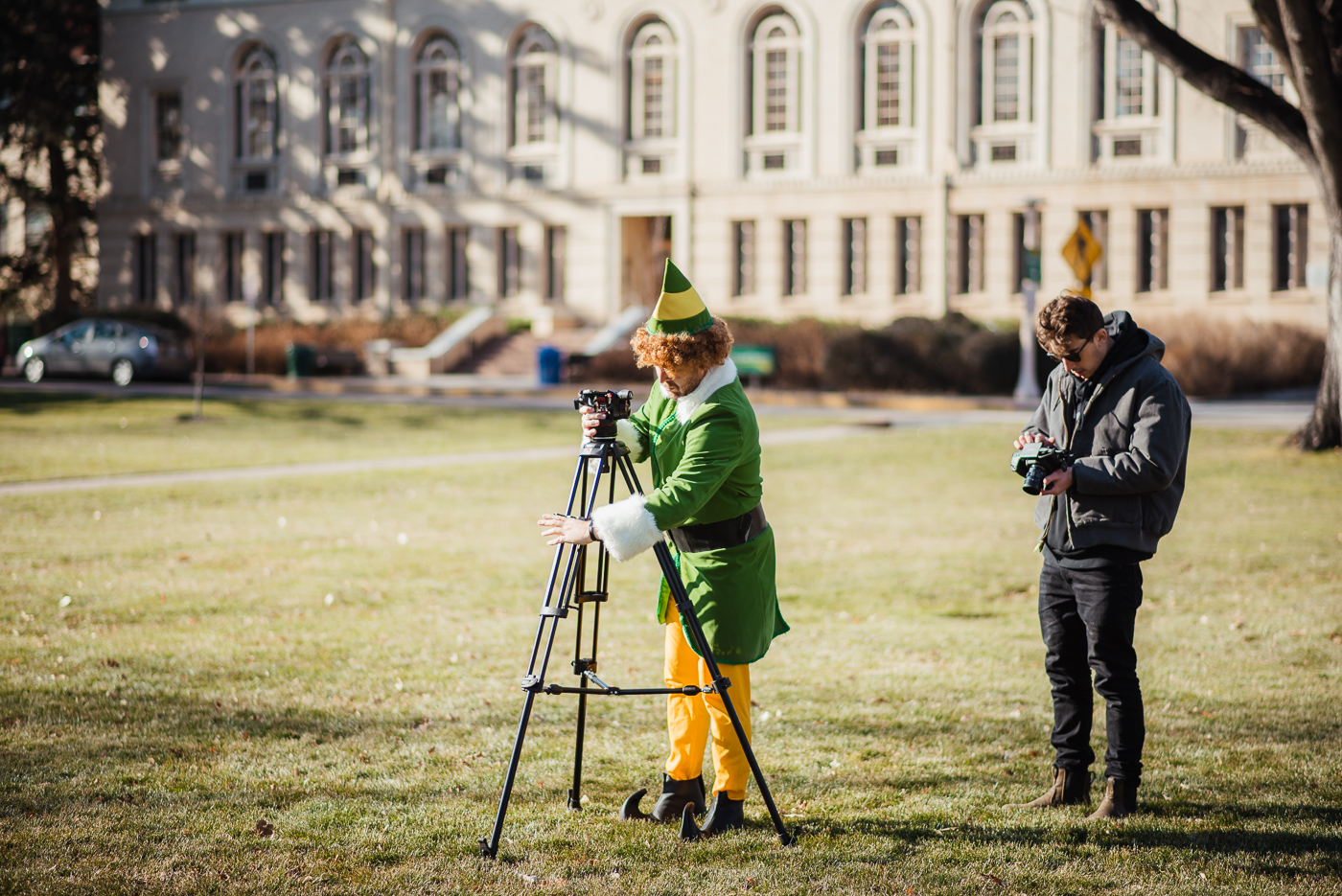 PHOCO Christmas Card Colorado Old Town Fort Collins Photographer Buddy the Elf BTS-8.jpg