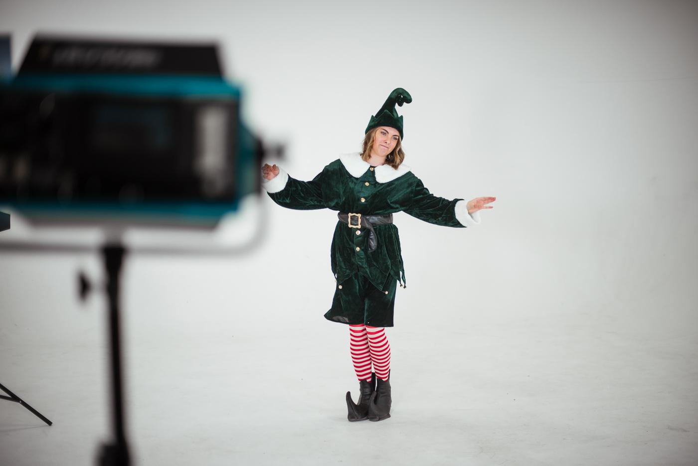 PHOCO Christmas Card The Articulate Photo Studio Cyclorama Infinity Wall Colorado Fort Collins Photographer Elf Yourself BTS-10.jpg