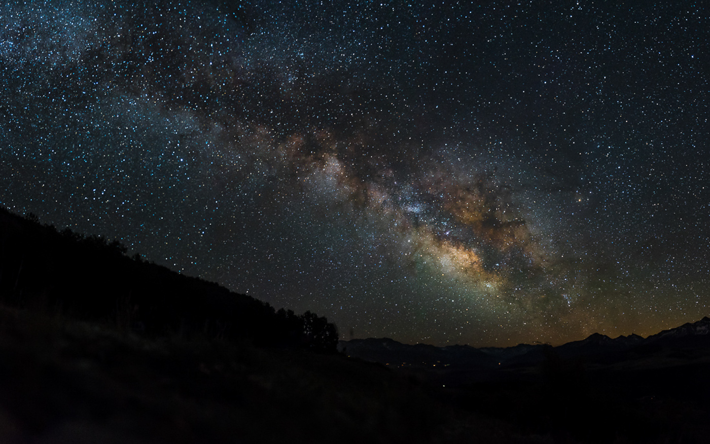 The Milky Way over Telluride, Colorado.