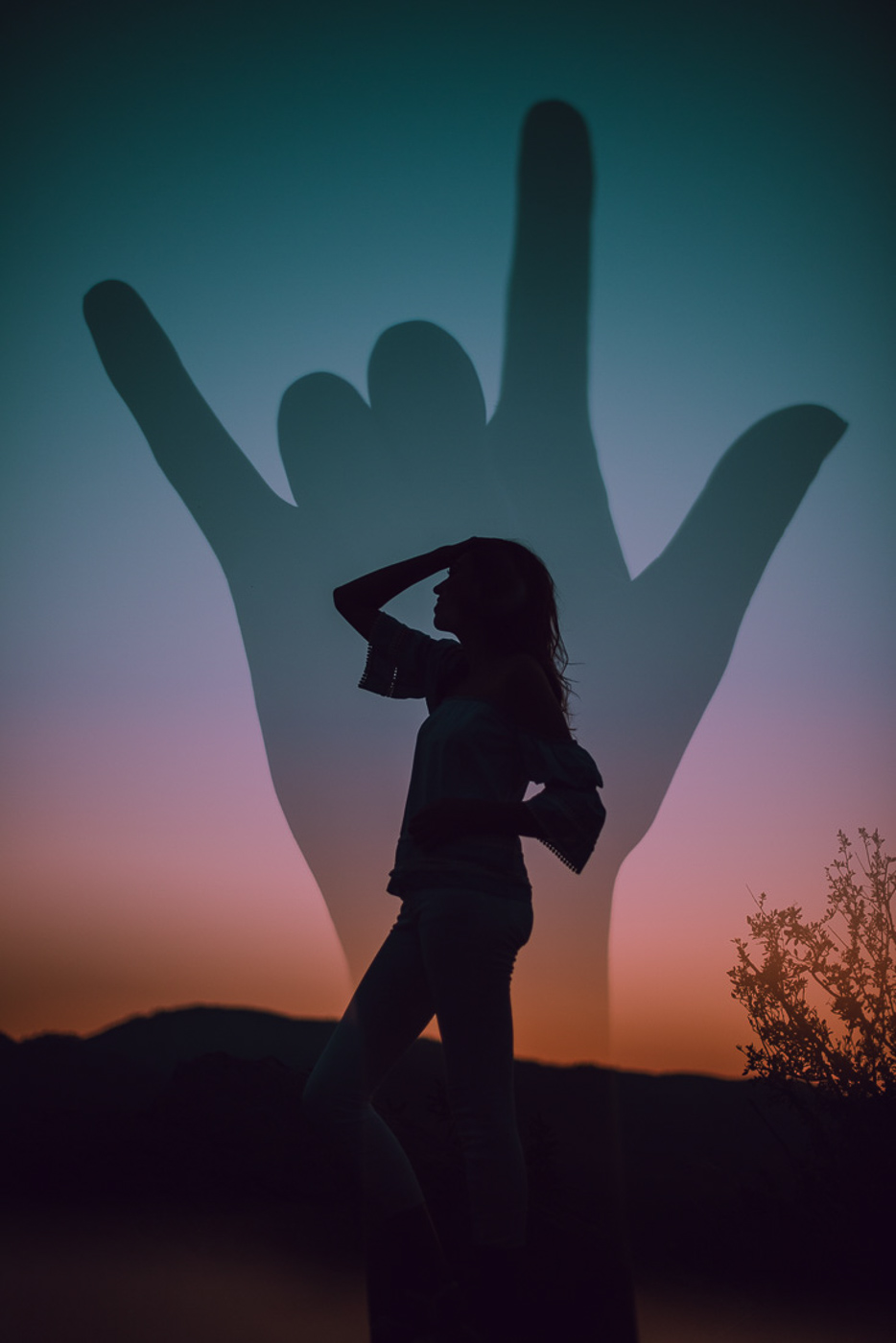 PHOCO Best of 2018 Photograph Fort Collins-36 Senior Pictures Double Exposure Love Sign Language Silhouette Torie Wolf.jpg