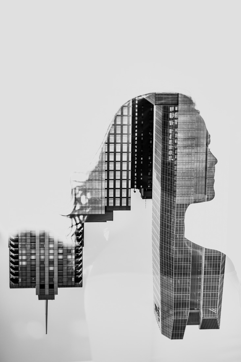 PHOCO Best of 2018 Photograph Fort Collins-45 Senior Picture Double Exposure black white city buildings Jamie Skinner.jpg