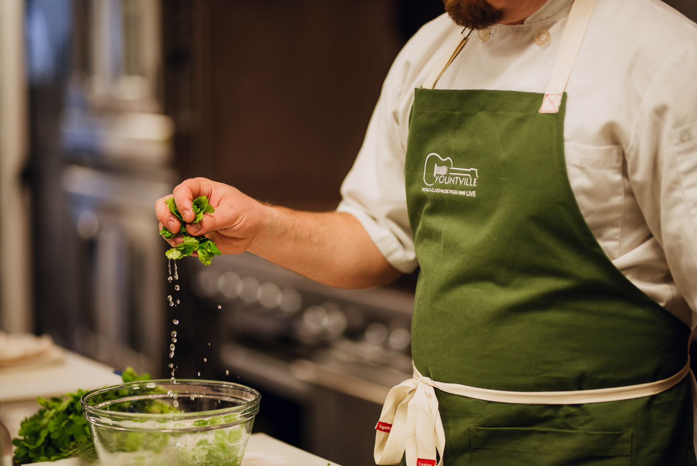 Food prep at Chef Timothy Hollingsworth's Master Class