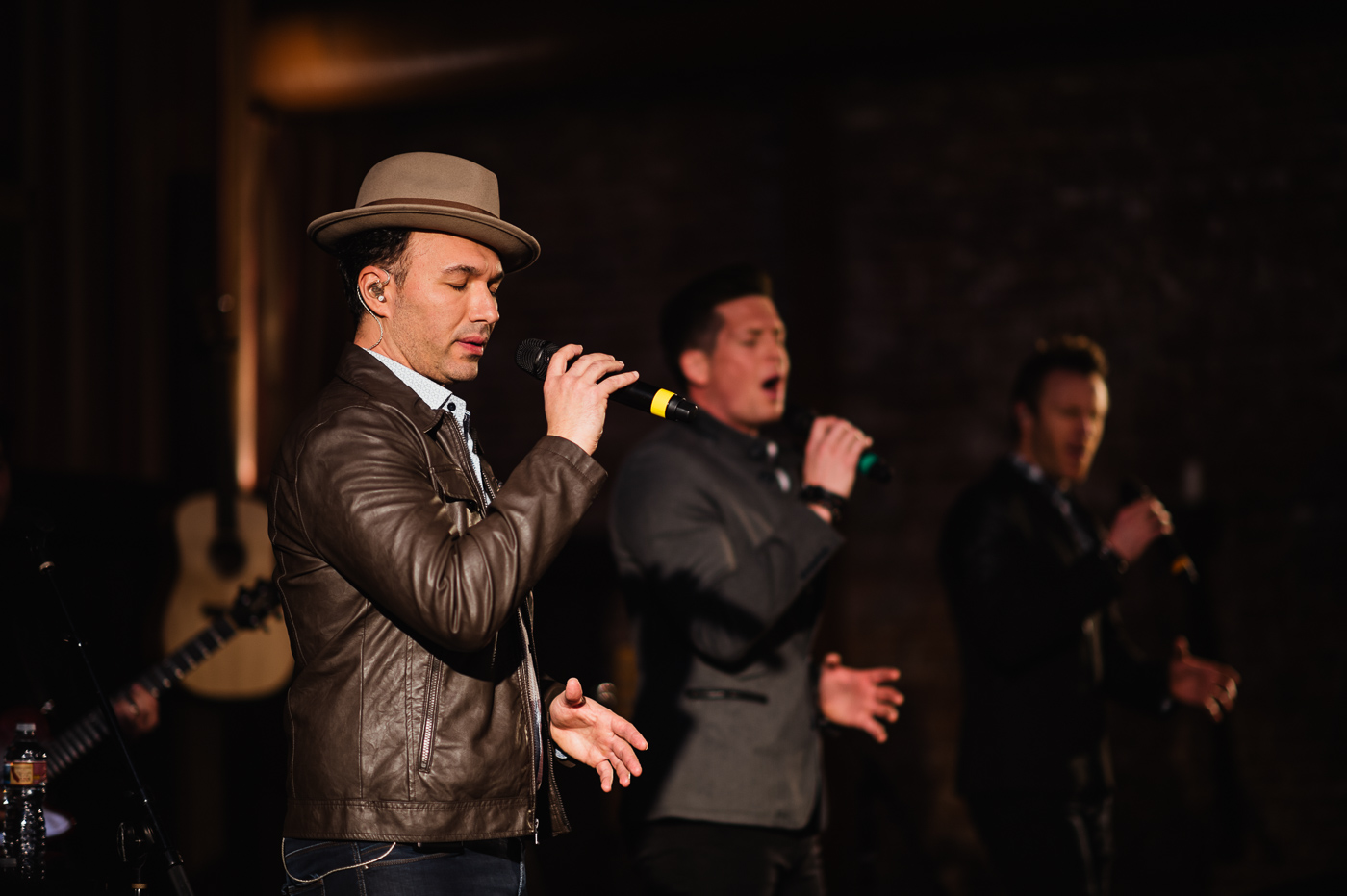 The Tenors perform in the Barrel Room on Saturday afternoon.