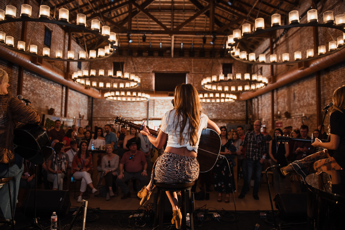 Runaway June performs in the Barrel Room on Saturday afternoon.