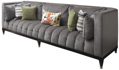 Ross Sofa - The Ross sofa was designed for entertaining. The Tuxedo silhouette paired with plush back pillows offers the perfect mix of formality and comfort.
