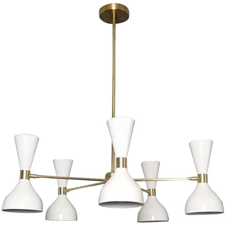 Ludo Petite - $3800.00As Shown: Stark White & Natural Brass