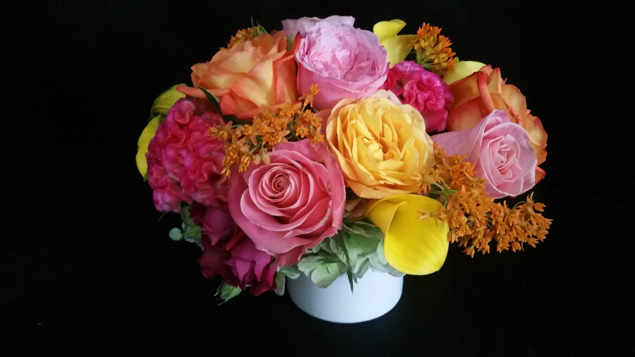 Warm Color Floral Arrangement