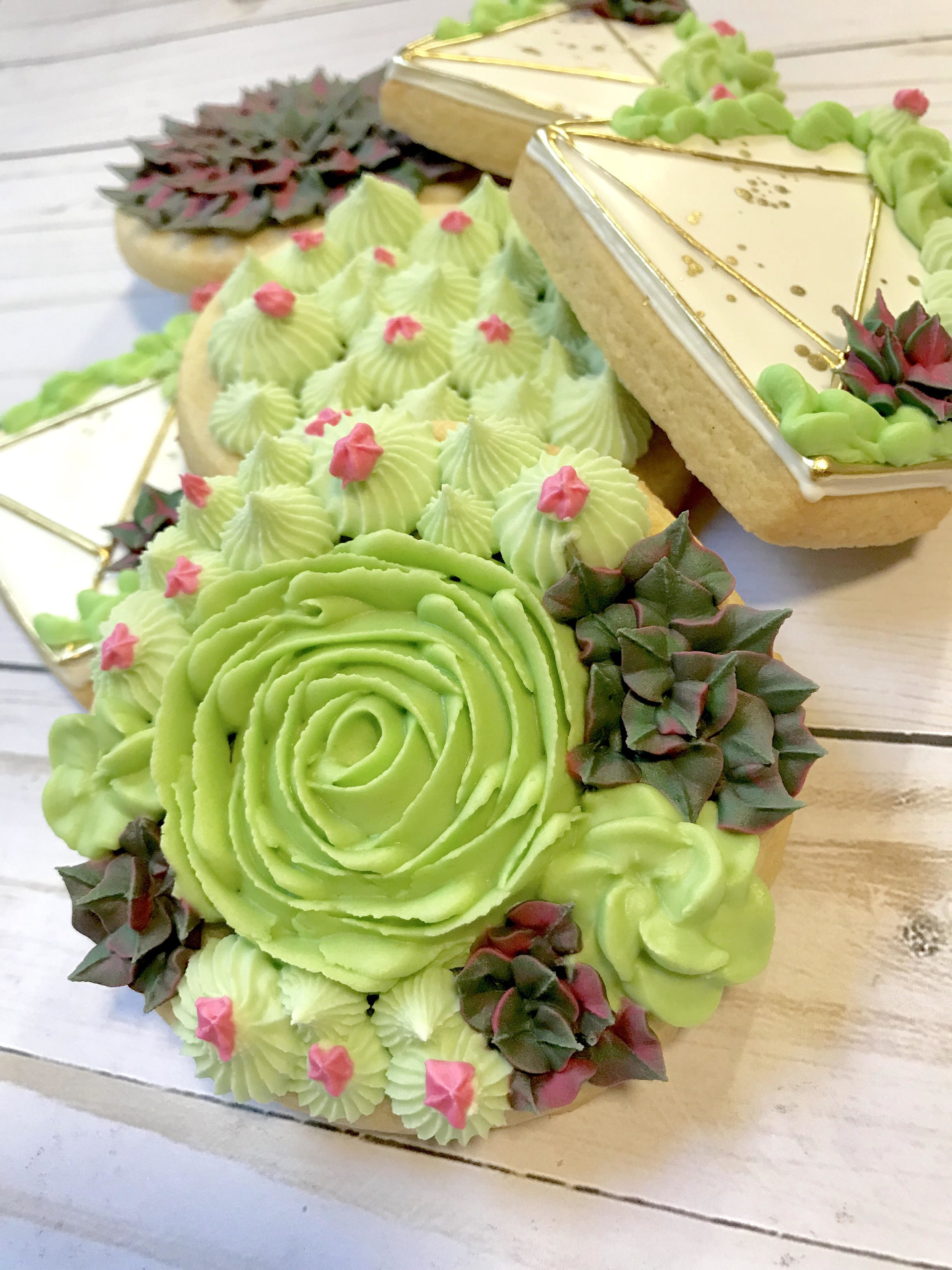 Beyond Fresh Class Succulent Cookie Decorating Hosted By Sweetly Created Cookies Aranj Learn To Floral