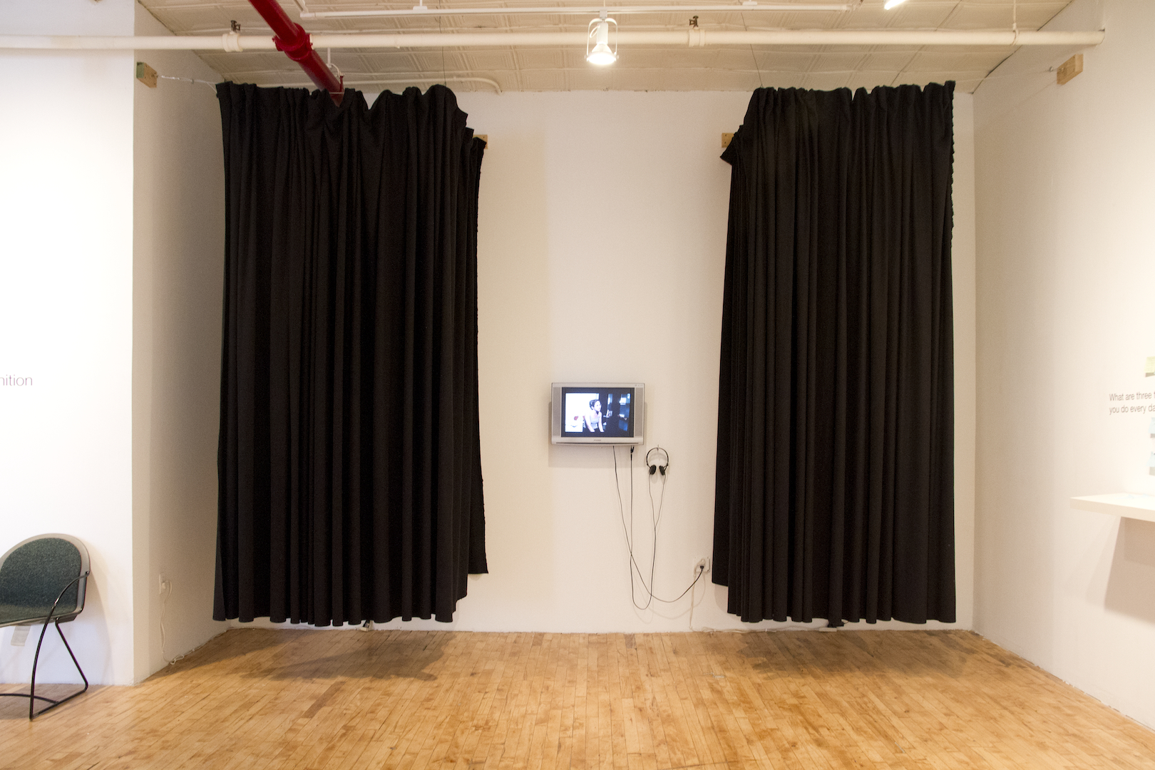 Installation View: Screening Rooms, Free Consultations