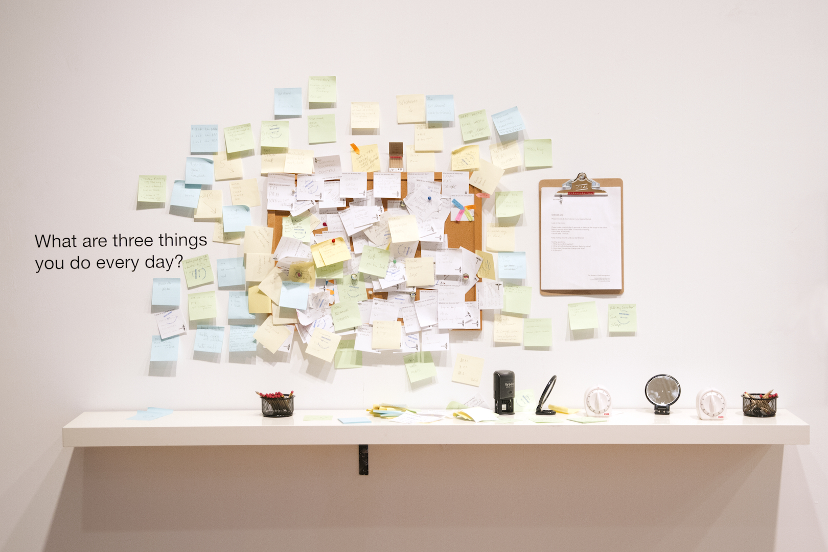 Installation View: Three Things You Do Every Day
