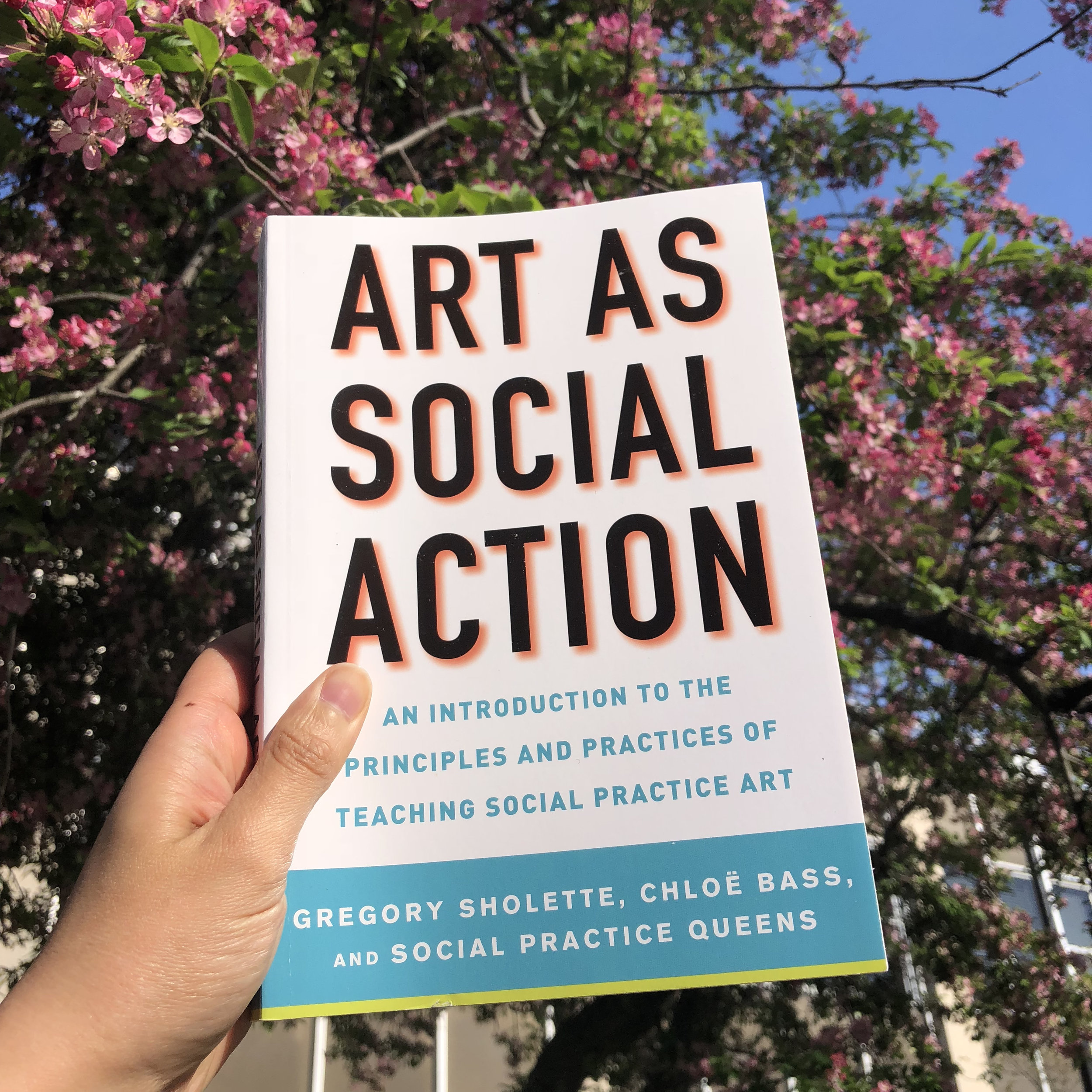 - Art As Social Action (2018), co-edited by myself and Dr. Gregory Sholette, is both a general introduction to and an illustrated, practical textbook for the field of social practice, an art medium that has been gaining popularity in the public sphere. With content arranged thematically around such topics as direct action, alternative organizing, urban imaginaries, anti-bias work, and collective learning, among others, Art as Social Action is a comprehensive manual for teachers about how to teach art as social practice. Along with a series of introductions by leading social practice artists in the field, valuable lesson plans offer examples of pedagogical projects for instructors at both college and high school levels with contributions written by prominent social practice artists, teachers, and thinkers. Available from Allworth Press.