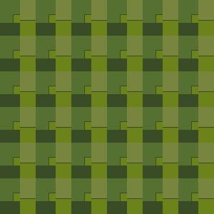 A simple pattern of 4 shades of olive greens