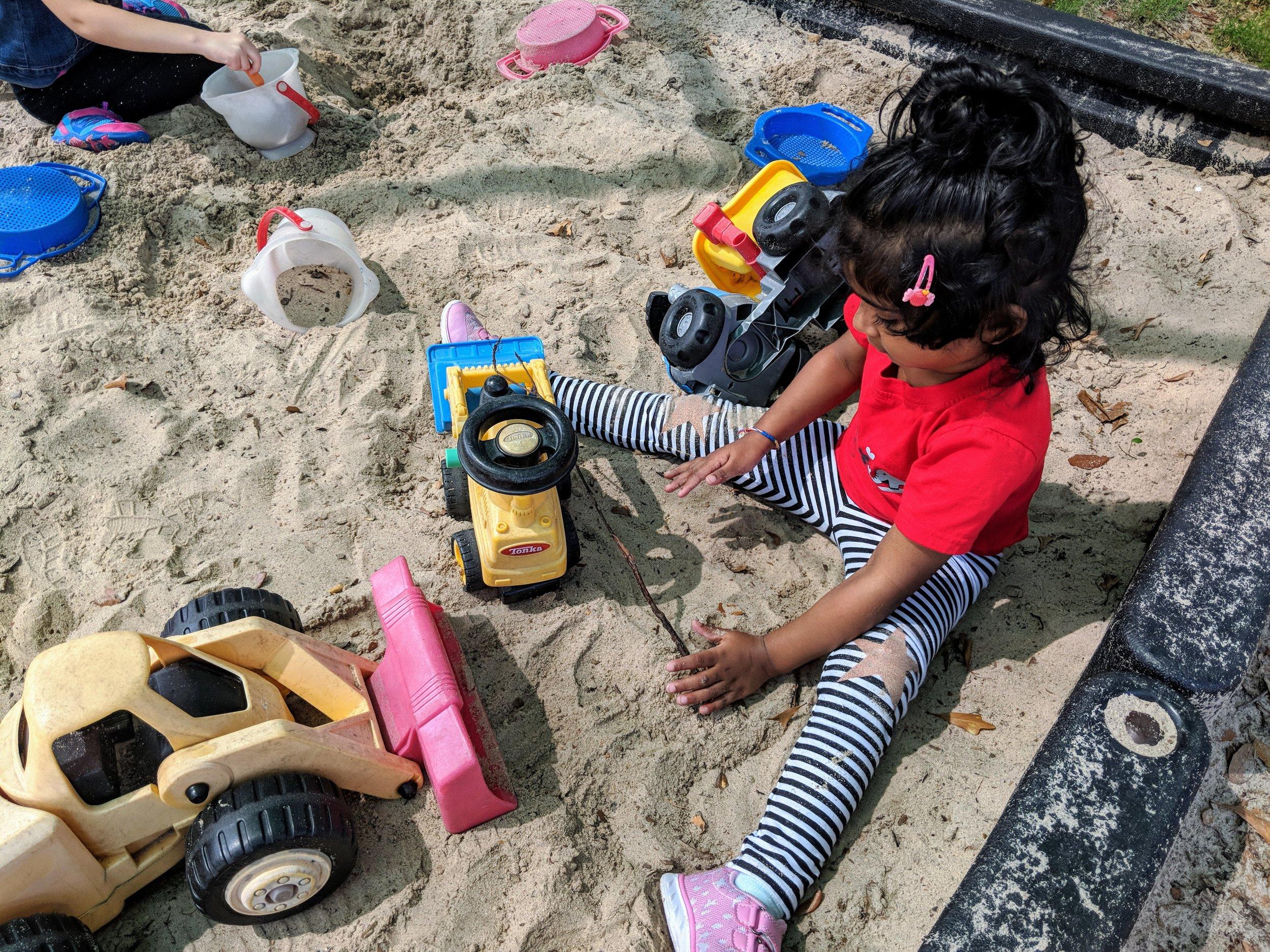 Sandbox on Preschool playground