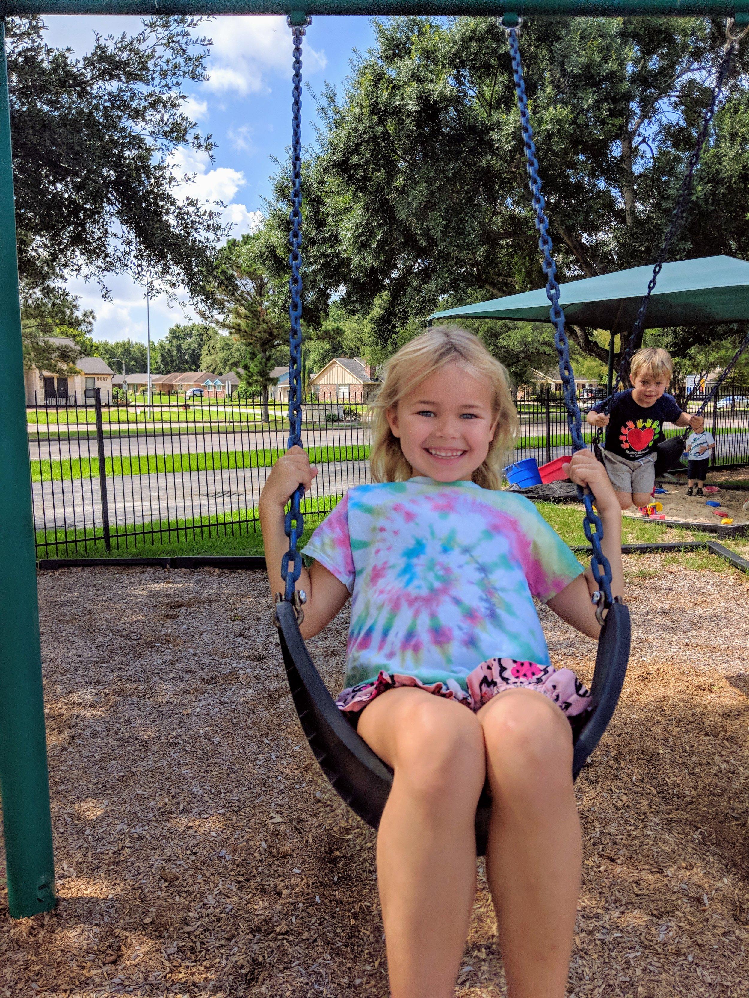 Swings on Preschool playground