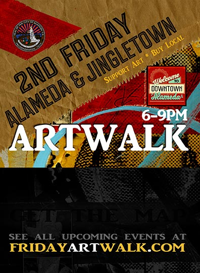 2nd Friday Art Walk - Get a glimpse into the local art community by doing the monthly 2nd Friday Art Walk, when dozens of art galleries open up their spaces to promote art and culture in Alameda and Oakland's Jingletown. Participants change each month, but it's generally along the art spaces down Park Street between 6 and 9pm.fridayartwalk.com