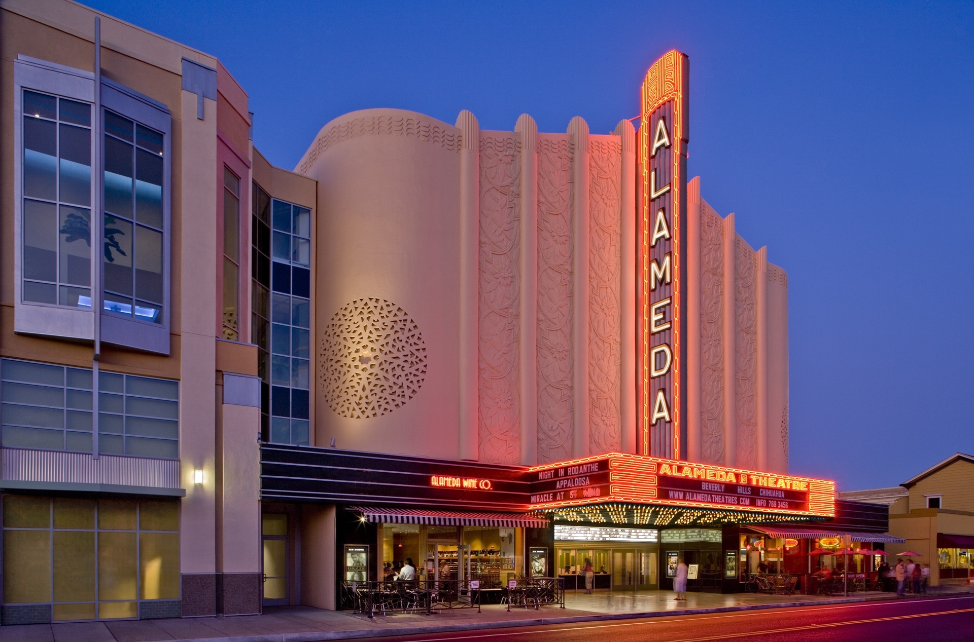 Alameda Theatre & Cineplex - The Bay Area loves restored movie houses, and the Alameda Theater is no exception. This 1932 Art Deco theater was restored in 2008 and has since become a center of entertainment for the area. Catch a flick in the historic landmark and enjoy food delivered straight to your theater seats from Cinema Grill.2317 Central Ave., Alamedaalamedatheatres.com