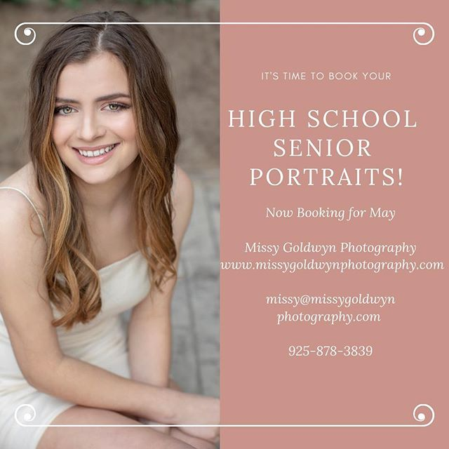 Time is running out! The school year is quickly coming to a close-don't forget to book your high school senior a customizable photo shoot to document this special time in their lives❤️