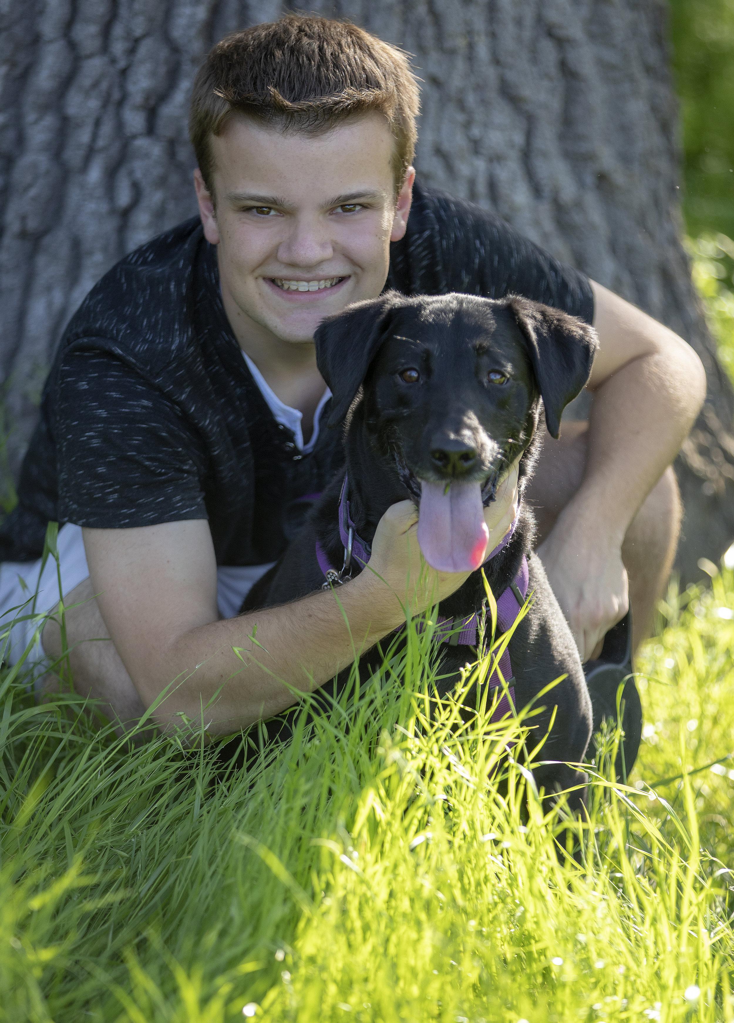 dog portraits - family portraits - high school senior