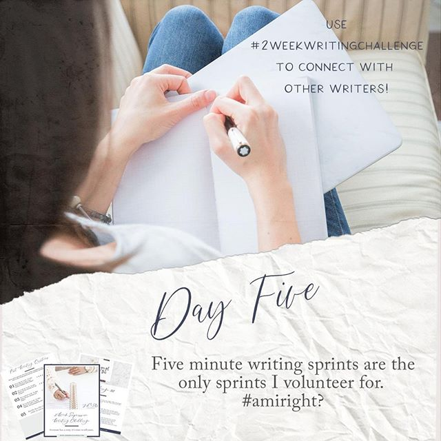 It's Day 5! This is a pivotal point in the expressive writing practice -- writing for 5 minutes straight. You can do it, I know you can! #2weekwritingchallenge⠀ • • •⠀ My submission was the start of a blog post, actually, so stayed tuned for that to see what a 5 minute sprint can do for other parts of your writing life!